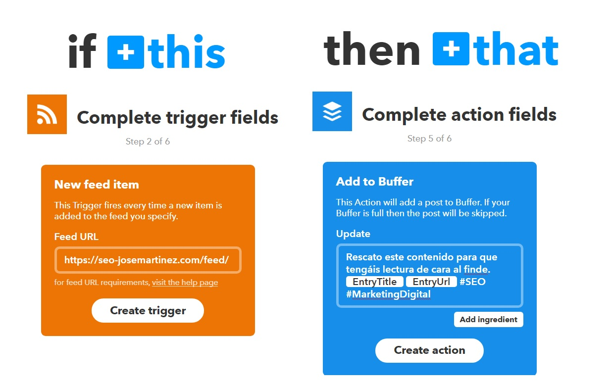 Buffer y IFTTT