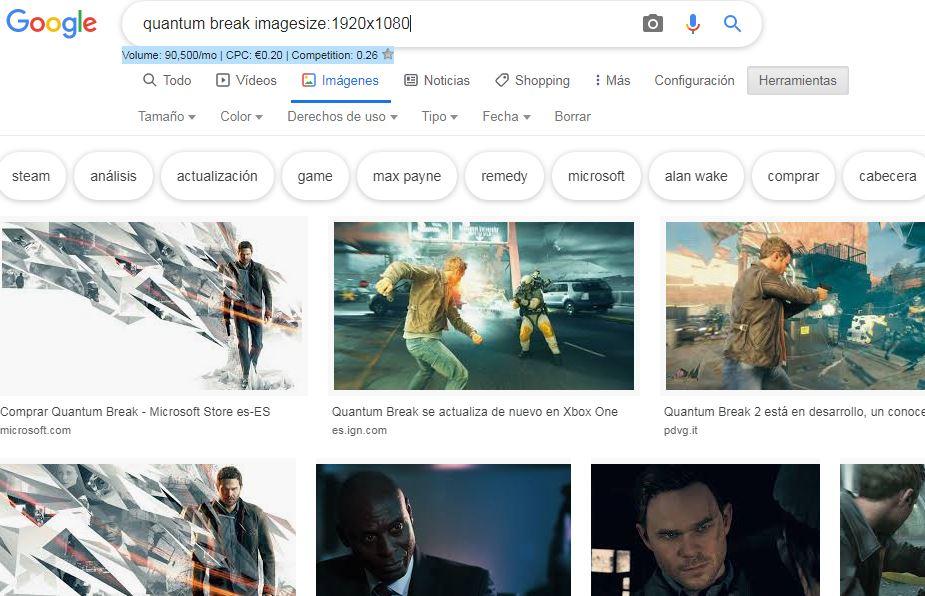 Soluciones: Google elimina la búsqueda de imágenes por tamaño exacto 1