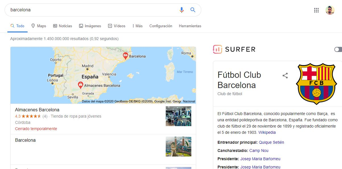 Entidades en Google